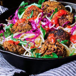 Harissa Lentil Quinoa Meatballs [Vegan]