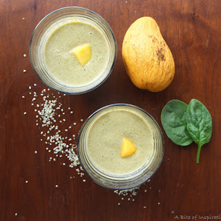 Mango Coconut Protein Smoothie.