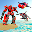 Mega Robot Games: Flying Car Robot Transform Games icon