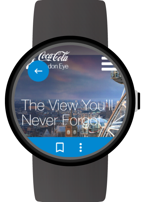 Web Browser for Wear OS (Android Wear) screenshots