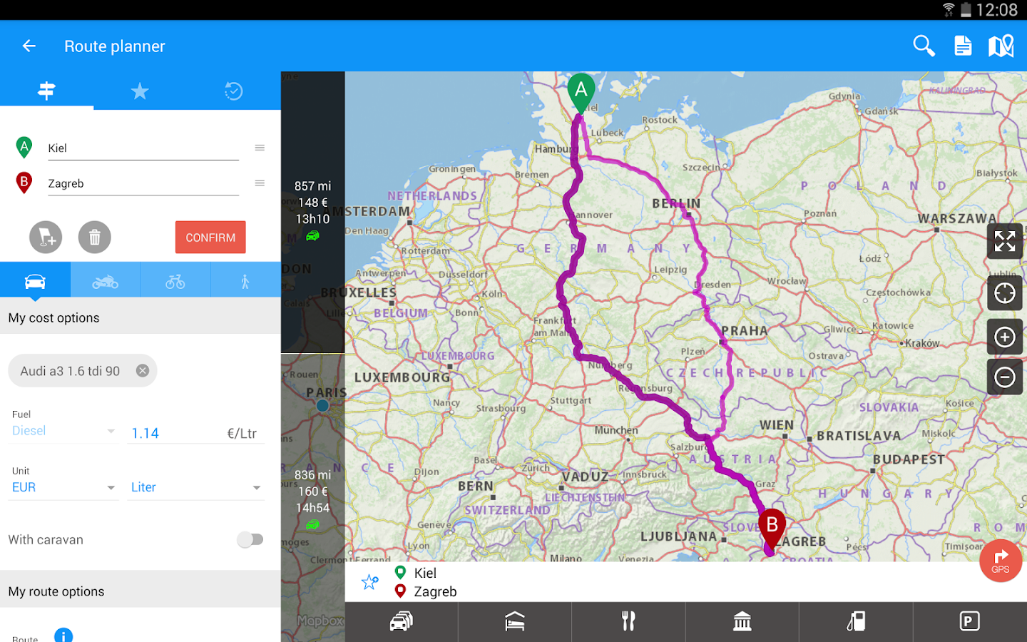 GPS Traffic Speedcam Route Planner by ViaMichelin- screenshot