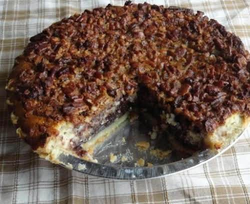 "Chocolate Pecan Cheesecake Pie ""This is one of the MOST decadent desserts..."