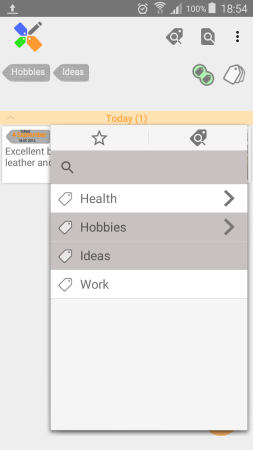 Mindnotes (beta version)- screenshot