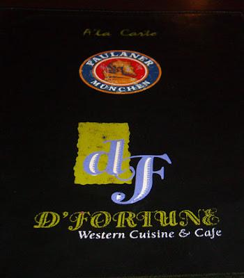 d'fortune menu