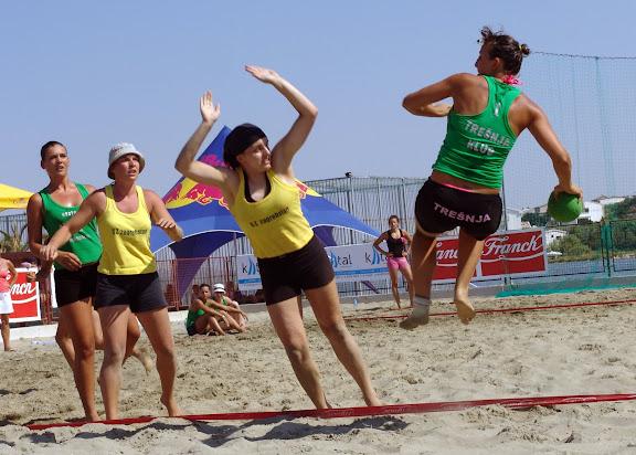 rukometašice na pijesku