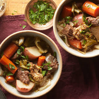 """Slow-Cooker """"Corned Beef"""" & Cabbage."""