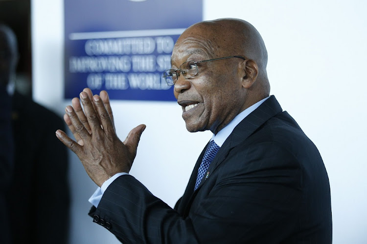 President Jacob Zuma addresses the media at the 2017 World Economic Forum on Africa in Durban on Wednesday. Picture: REUTERS