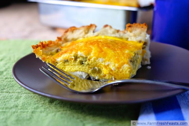 Hatch Chile, Egg & Potato Casserole Recipe