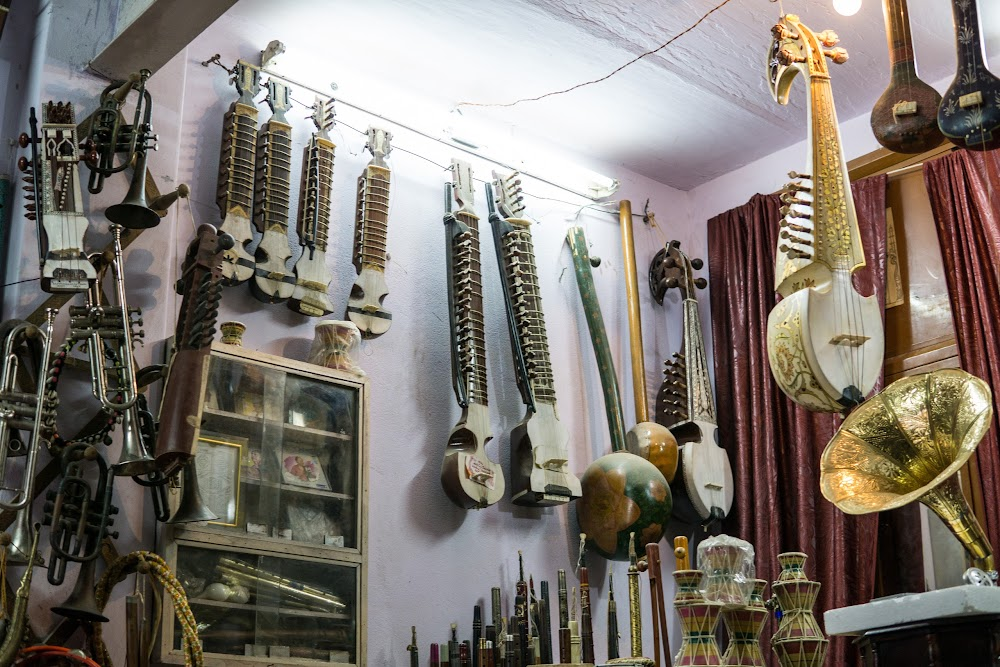 Traditional music shop in Jaipur
