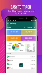 My Money - Free Personal Money Manager Screenshot