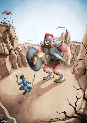 David and Goliath AR