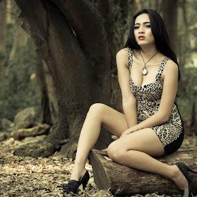 Deep in the Forest by Putu Anggara - People Portraits of Women ( model, pantai indah kapuk, lady, jakarta, mangrove )