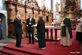 Photo: Kostel Panny Marie Královny a sv. Jiljí v Třeboni v neděli 26. 6. 2016: předávání daru od Třeboňské farnosti (ornát a doplňky)