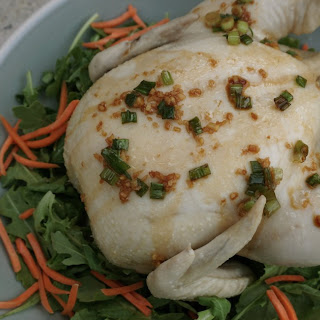 Poached Chicken with Soy Ginger Scallion Sauce