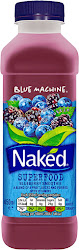 Naked Blue Machine Juice Smoothie - Blueberry, 450ml