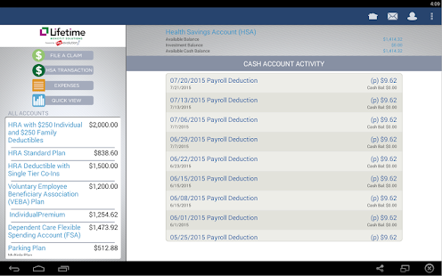 LBS Health Spending App- screenshot thumbnail