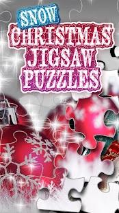 Snow Christmas Jigsaw Puzzle - náhled