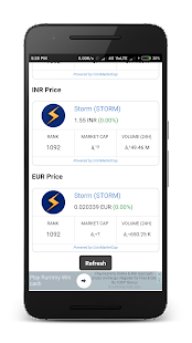 STORM Token Price In USD, INR, EUR - náhled
