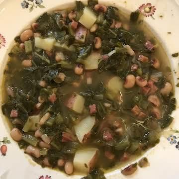 Southern Turnip Greens Soup