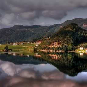 Reflection  by Marco Caciolli - Landscapes Mountains & Hills ( pwcreflection )