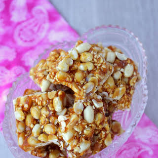 Chinese Peanut Sesame Ginger Brittle – 4 Ingredients Peanut Sesame and Ginger Brittle.