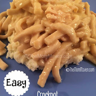 Easy Crockpot Amish Chicken and Noodles.