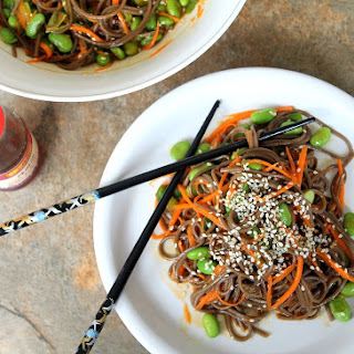 Soba Noodle & Edamame Salad with Soy Dressing