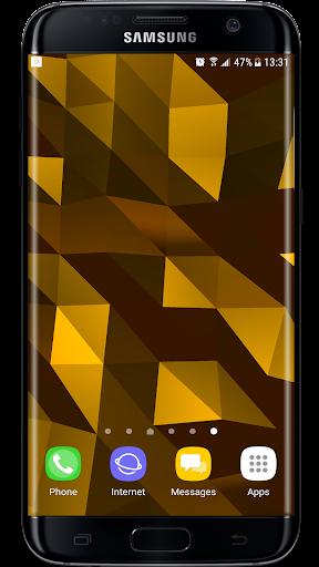 Parallax  Golden Crystal Edge 3D Live Wallpaper 1.0.1 screenshots 1