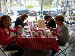 Photo: Workshop Servies beschilderen 26-3-11