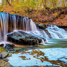 Gorge trail falls by Mike Svach - Landscapes Waterscapes ( november, waterscape, falls, fall, waterfall )