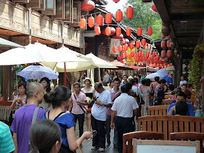 Photo: Chengdu - market at Wuhou temple