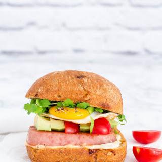 Grilled SPAM Breakfast Sandwich