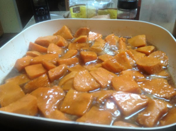 Now add in the partially cooked potatoes, lower the heat setting to low, and...