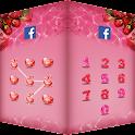 應用鎖主題 情人節玫瑰甜蜜愛人 隱私加密 隱藏圖片視頻保險箱 icon