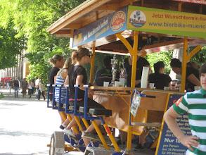 Photo: The human powered bar-cycle.