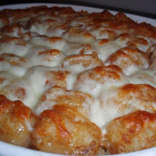 Tater Tot and Wild Rice Hot Dish Casserole.