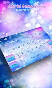 Sparkling Colorful Galaxy Dream Keyboard Theme - náhled