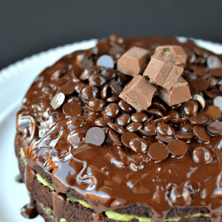 Chocolate Cake with Peppermint Coconut Cream
