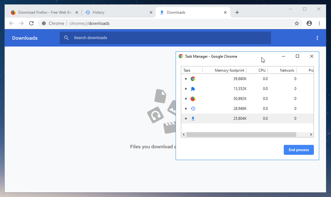 thumbapps.org Google Chrome portable, task manager