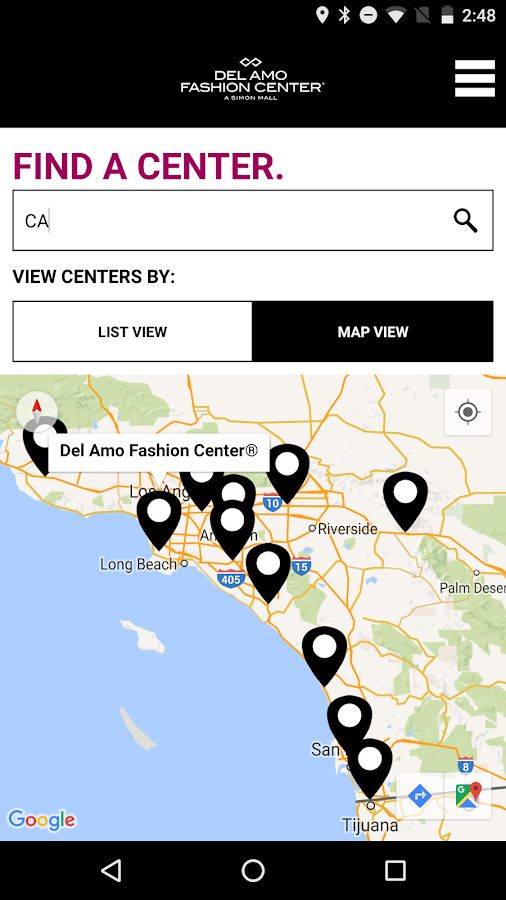 SIMON - Malls, Mills & Outlets- screenshot