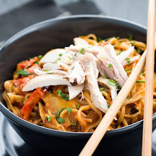 Chicken and Curry Noodles.