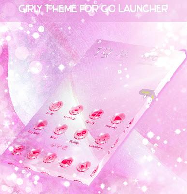 Girly Theme for GO Launcher - screenshot