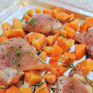 Pantry Raid! Roasted Butternut Squash & Chicken Thighs