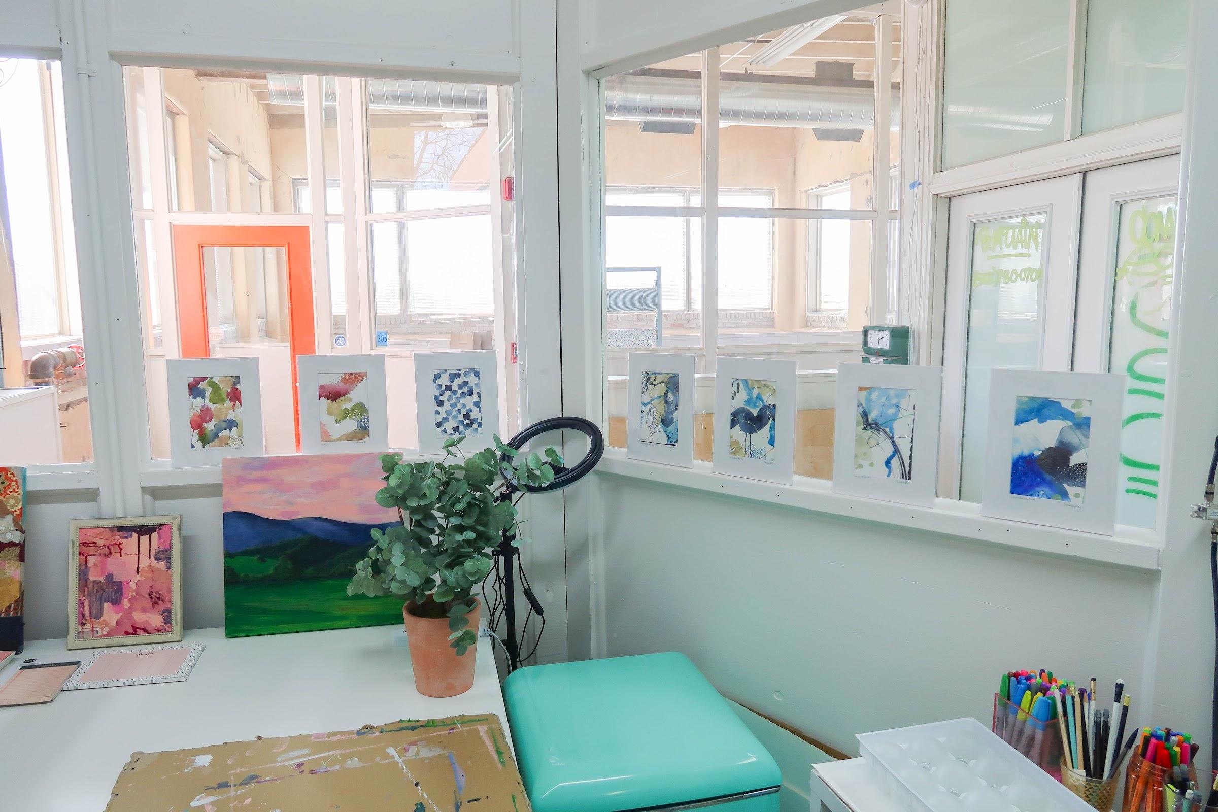 Katie Wampler: 7 paintings in studio