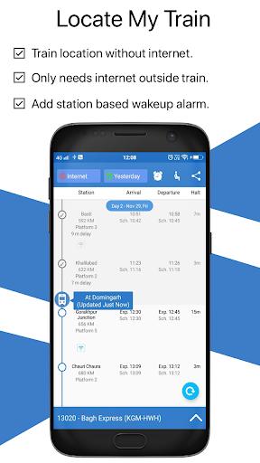 Live Train & Indian Rail Status - Locate My Train  screenshots 1