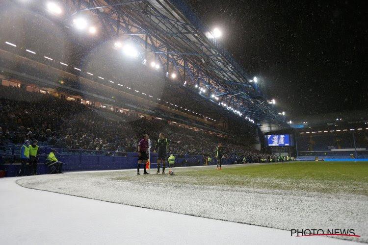? Ondertussen in Duitsland: sneeuw is de spelbreker en voorkomt zelfs een doelpunt voor Leverkusen