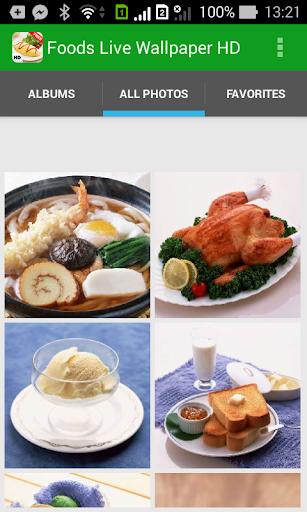 Foods Live Wallpaper HD
