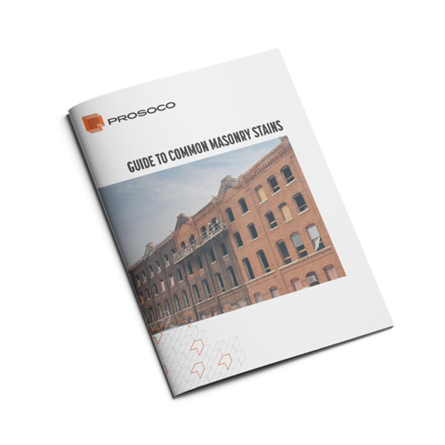 36 page guide to stain identification on masonry and how to clean them.