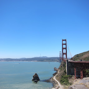 SF on a clear day!! by Diana Cabrera - Buildings & Architecture Bridges & Suspended Structures