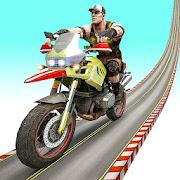 Superhero Ramp Bike Crazy Racing Stunts